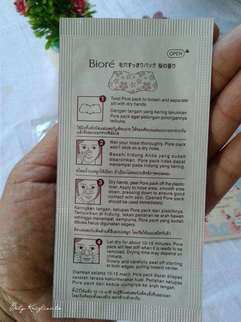 Review Biore Pore Pack Cherry blossom