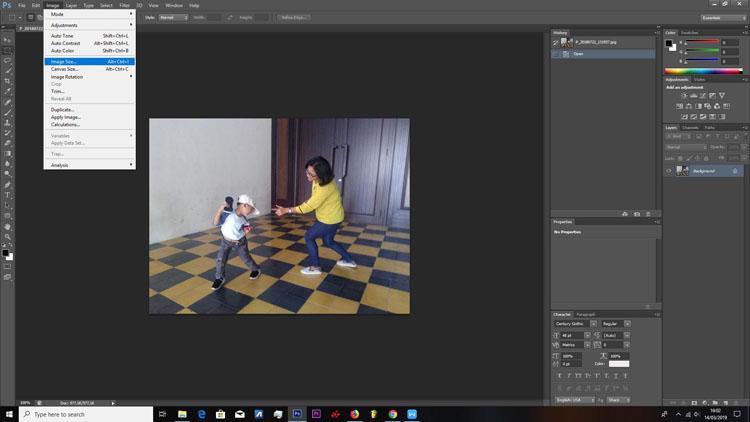 cara resizing foto dengan photoshop