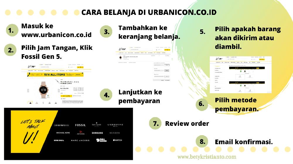 cara beli jam tangan di urbanicon.co.id