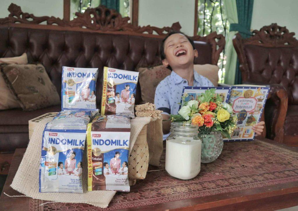 Indomilk susu bubuk dukung anak tinggi, tangguh, tanggap