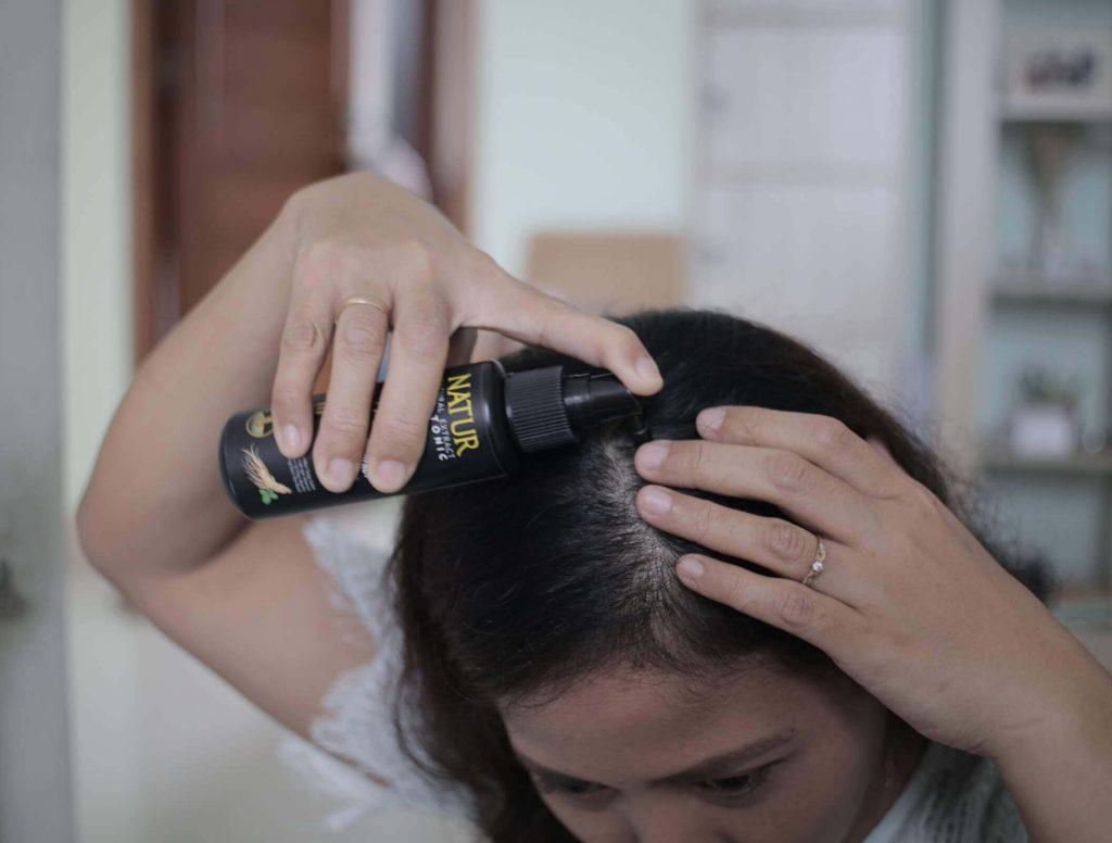 cara pakai natur hair tonic
