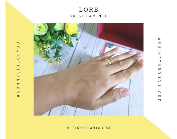 Review lore Brightamin-C serum